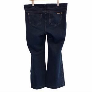 Nygard Slims women's blue denim pull on ankle jeans 14